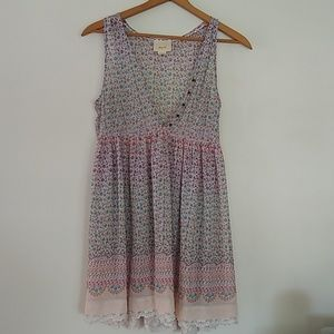 Anthropologie Maeve sheer tunic dress EUC Small